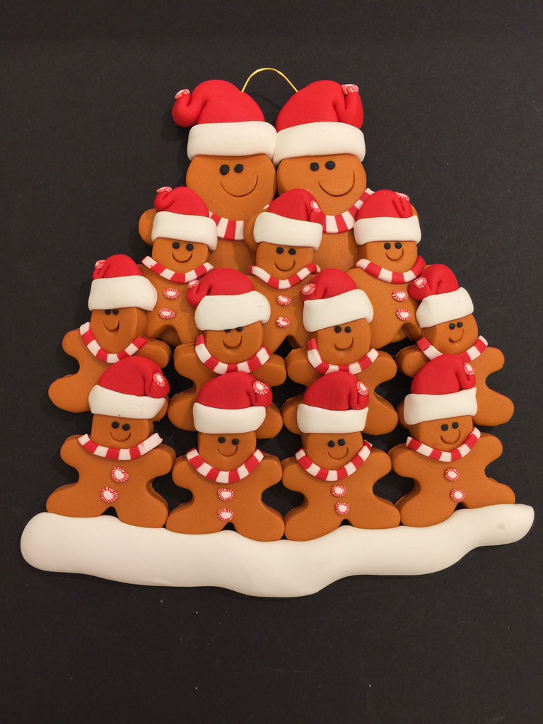 Ginger Bread Family of 13 Ornament