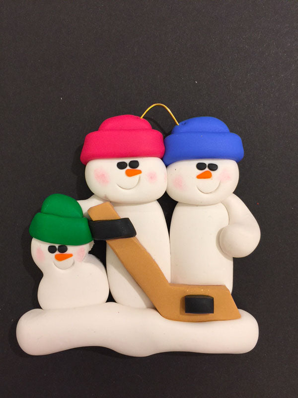 Hockey Family of 3 Ornament