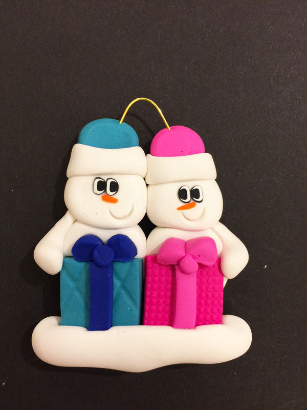 Present Family of 2 Ornament