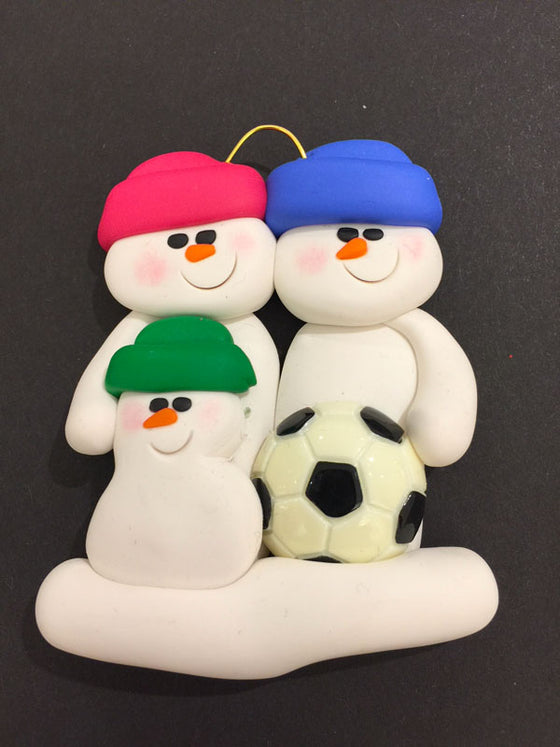 Soccer Family of 3 Ornament
