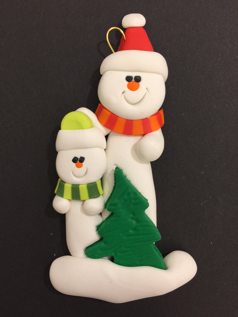 Single Parent Tree Family of 2 Ornament