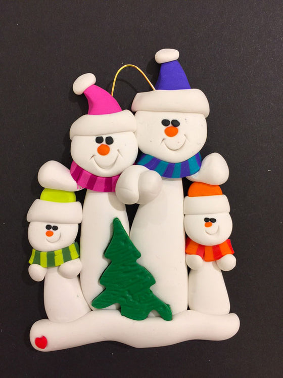 Tree Family of 4 Ornament