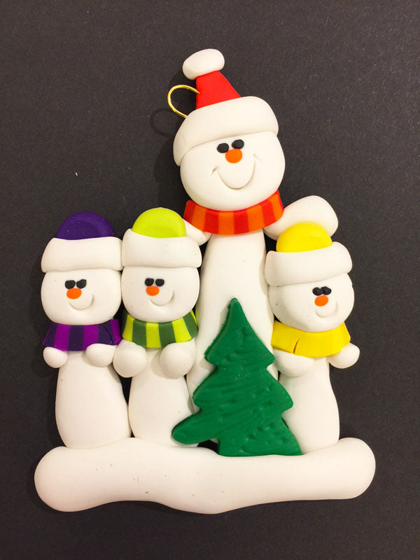 Single Parent Tree Family of 4 Ornament