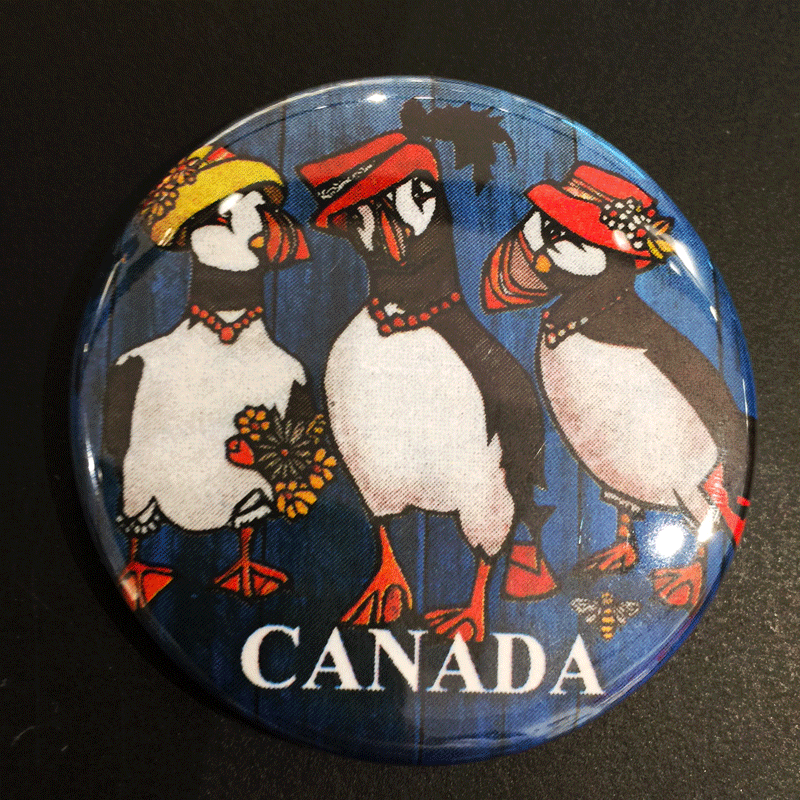 Puffins in Hats Magnet