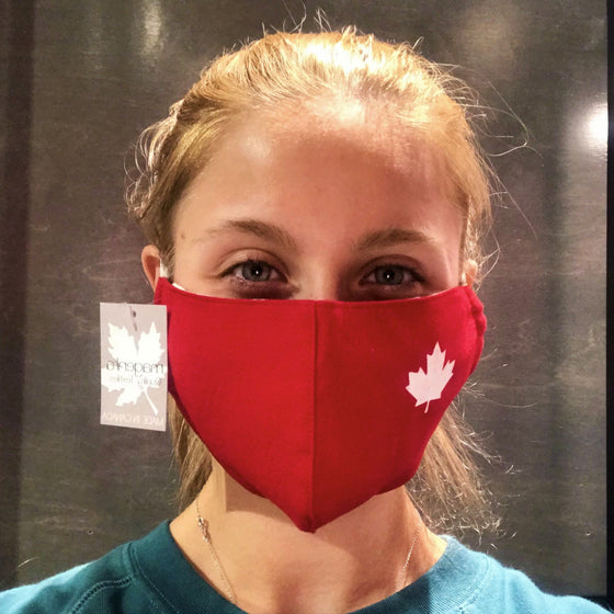 Face Mask - Red with White Maple Leaf