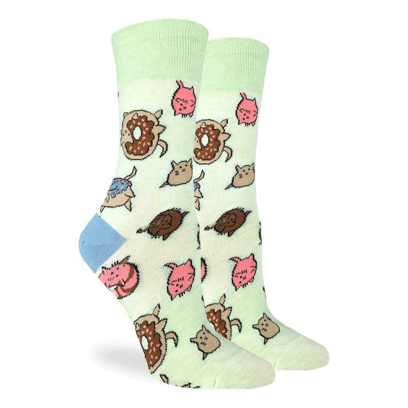 Women's Donut Cats Crew Socks