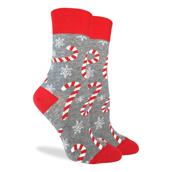 Women's Candy Cane Crew Socks