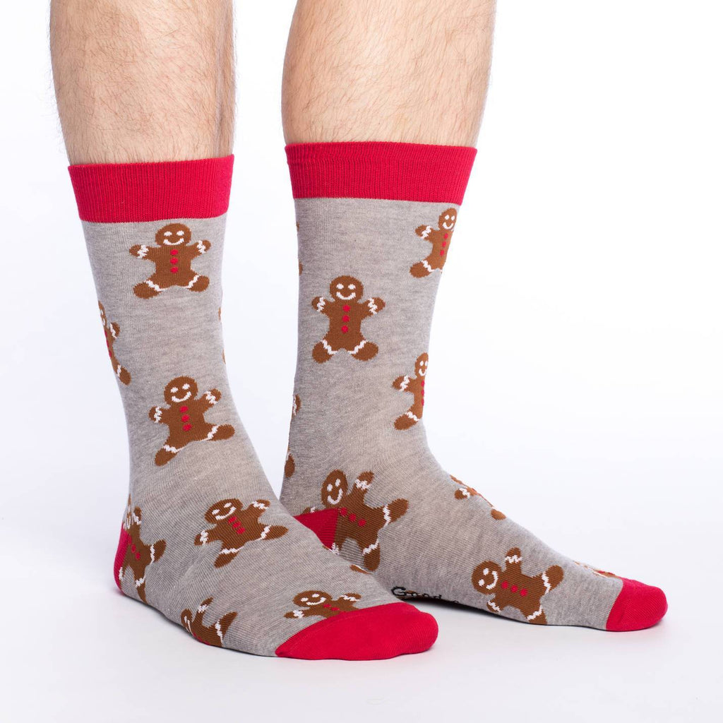 Men's Gingerbread Crew Socks