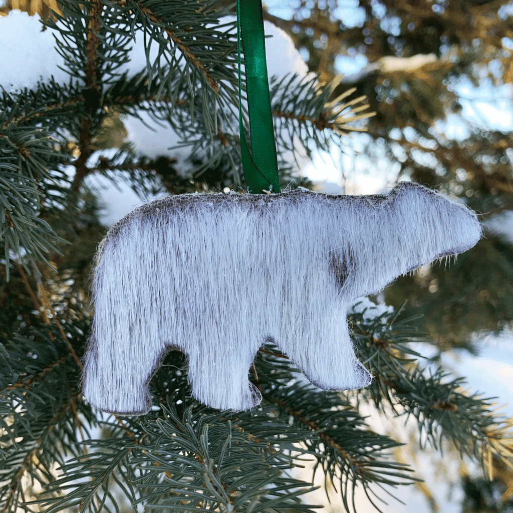 Inuit Seal Skin Polar Bear Ornament
