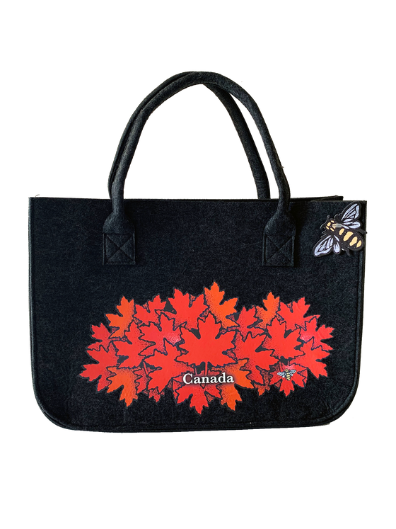 Large Maple Leaves Tote Bag