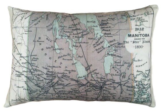 Manitoba Map Pillow