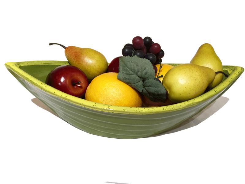 Dory Serving Bowl - Avocado & Gold - Pottery - Made In Canada Gifts - 1