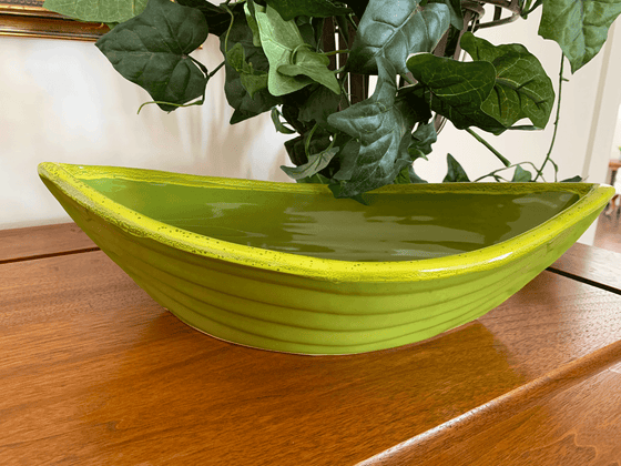 Dory Serving Bowl - Avocado & Gold