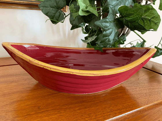 Dory Serving Bowl - Red & Gold