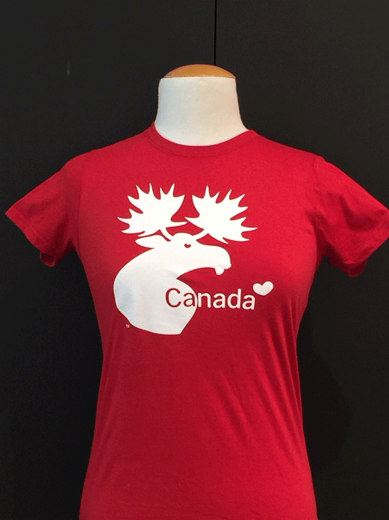 Canada Moose Slim Fit T-Shirt - Red/Black/White