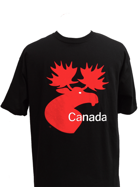 Canada Moose Unisex T-Shirt - Black
