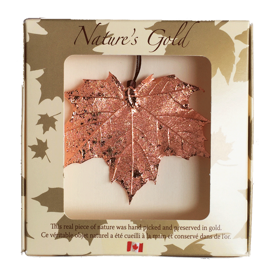 Maple Leaf Ornament - Copper - Ornaments - Made In Canada Gifts