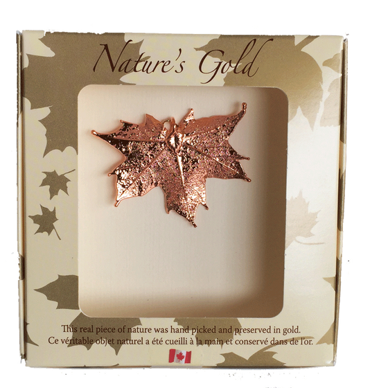 Maple Leaf Pendant - Copper - Jewellery - Made In Canada Gifts