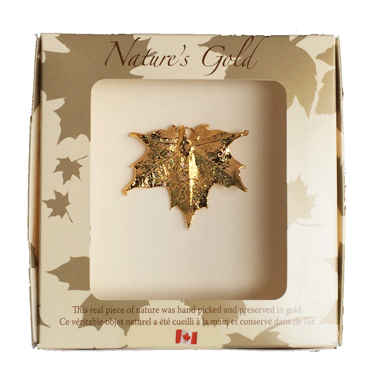 Maple Leaf Pendant - Gold - Jewellery - Made In Canada Gifts