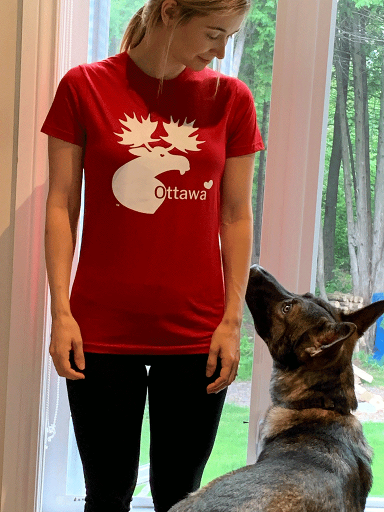 Ottawa Moose Slim Fit T-Shirt - Red/Black/White