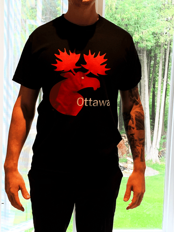 Ottawa Moose Unisex T-Shirt - Black