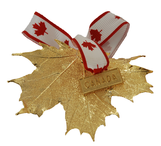 Canada Gold Maple Leaf Ornament
