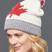 Maple Leaf Slouchy Hat