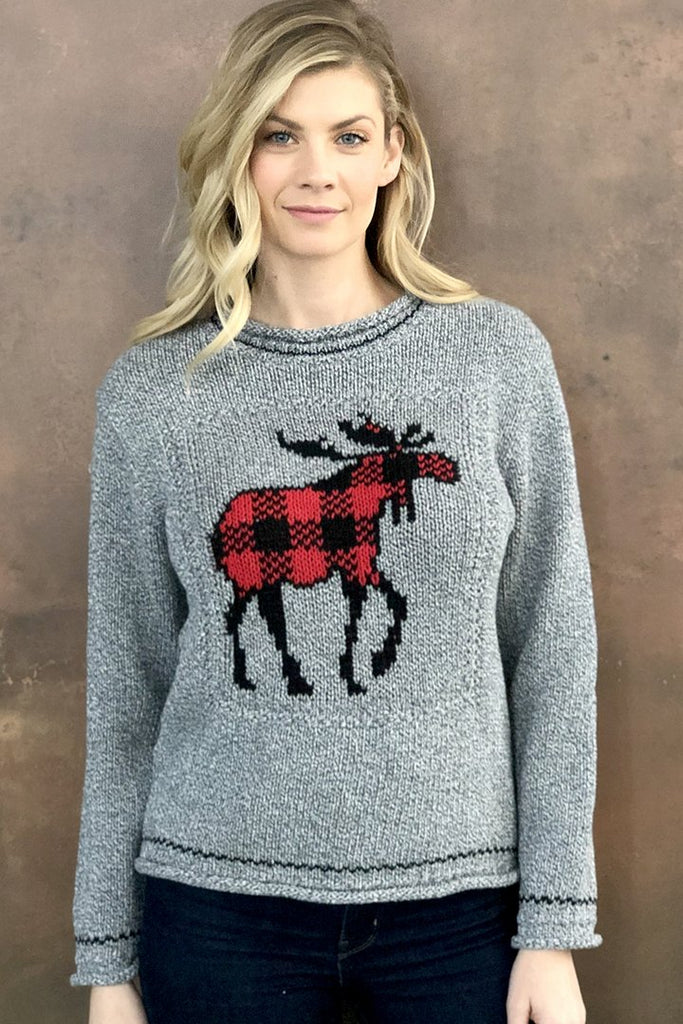 Moose Check Sweater