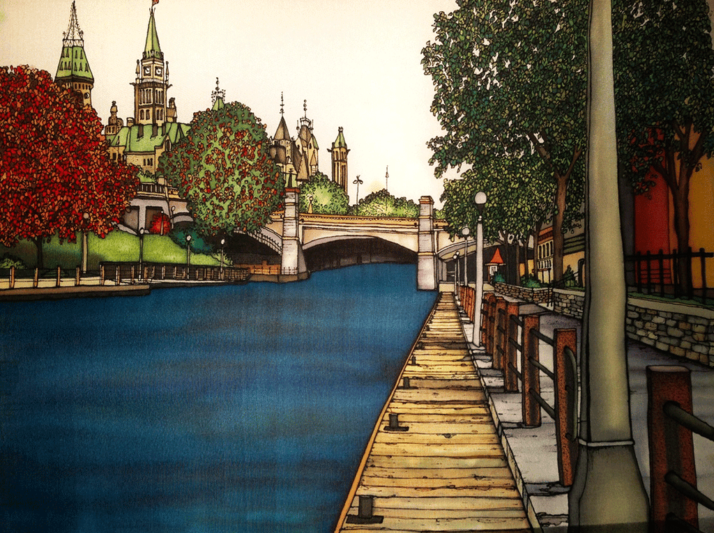 Ottawa Collection -  Rideau Canal - Print #168