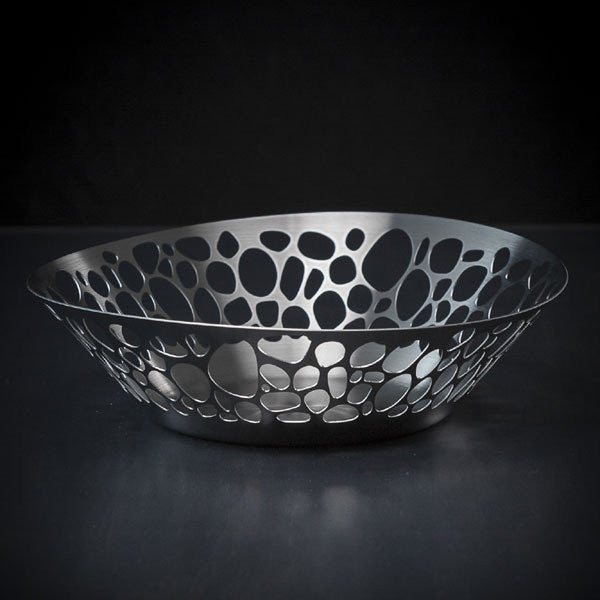 Stones Collection - Bread Basket in Brushed Stainless Steel
