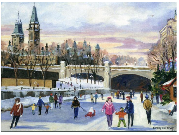 Skaters on the Rideau Canal - Shirley Van Dusen