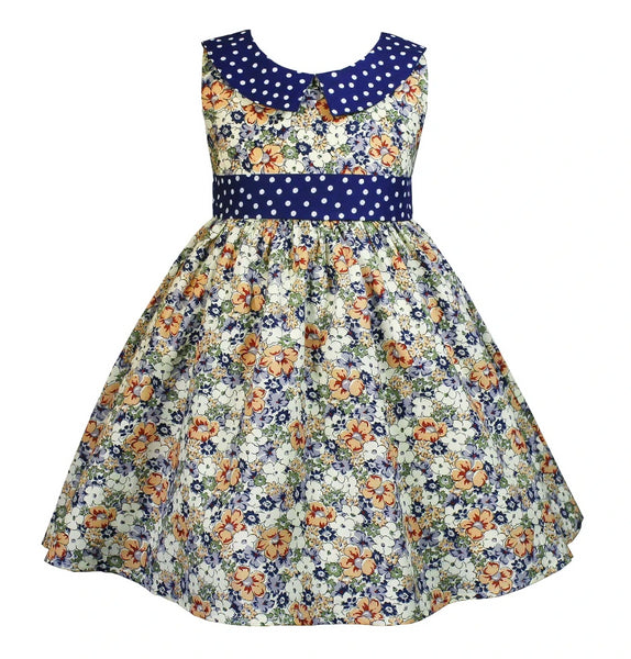 Vintage Hazel Flower Field Dress - Little Miss Marmalade
