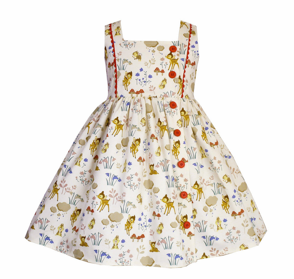 Vintage Harper Deer Dress - Little Miss Marmalade