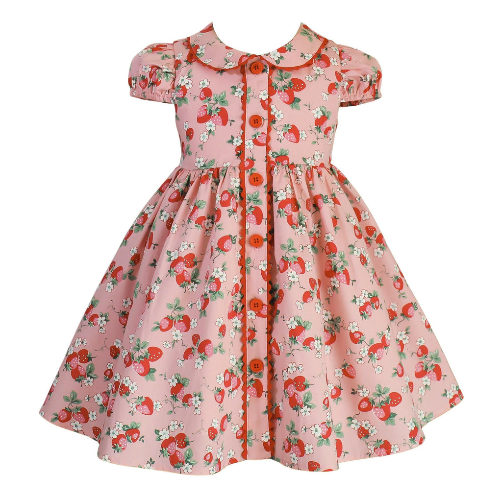 Vintage Nellie Strawberry Dress - Little Miss Marmalade