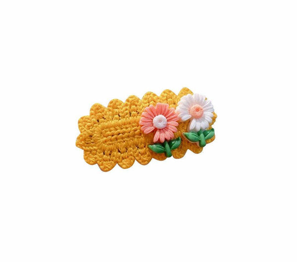 Handmade Crochet Flower Hair Clip - Little Miss Marmalade