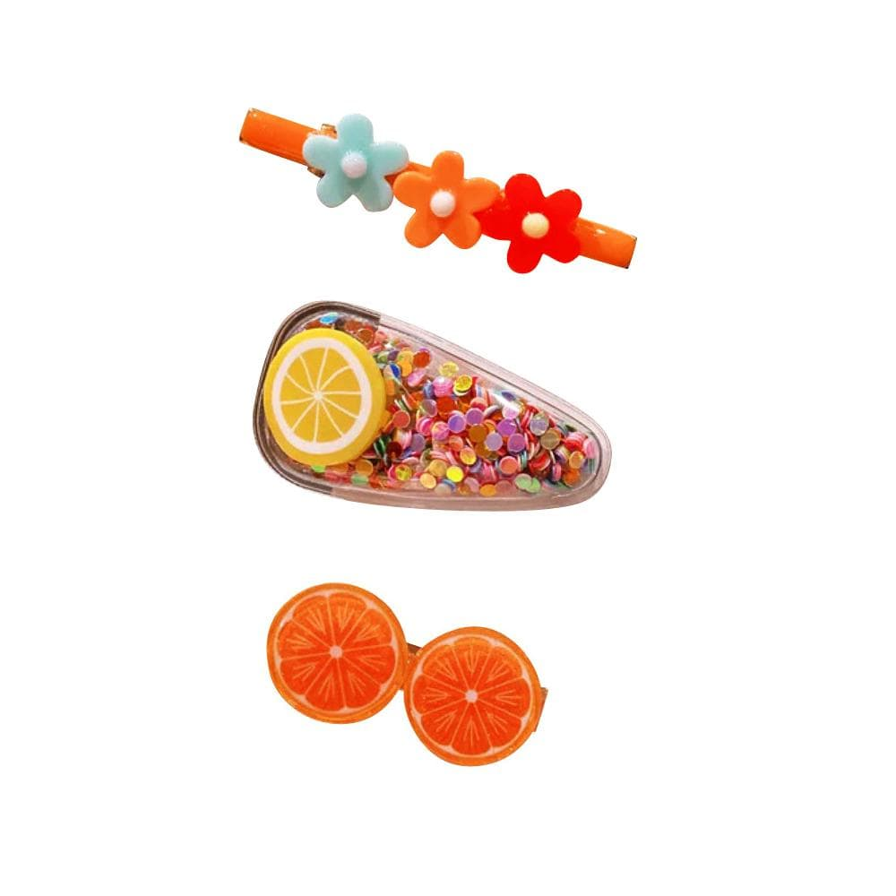 Summer Fruit Hair Clip Set - Little Miss Marmalade