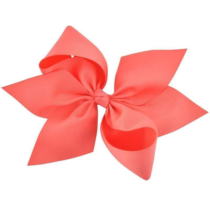 "10"" Coral Grosgrain Hair Bow - Little Miss Marmalade"