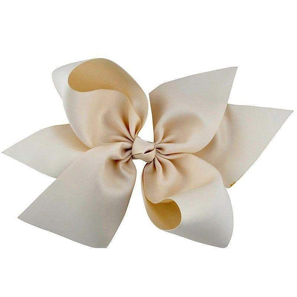 "10"" Ivory Grosgrain Hair Bow - Little Miss Marmalade"