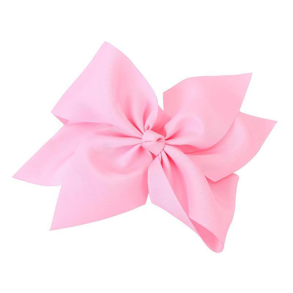 "Girls Accessories - 10"" Light Pink Hair Bow"