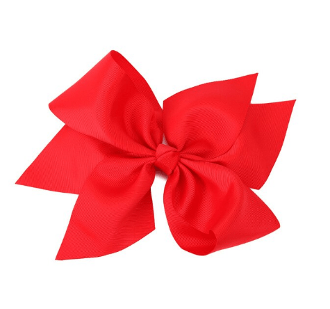 "10"" Red Hair Bow - Little Miss Marmalade"