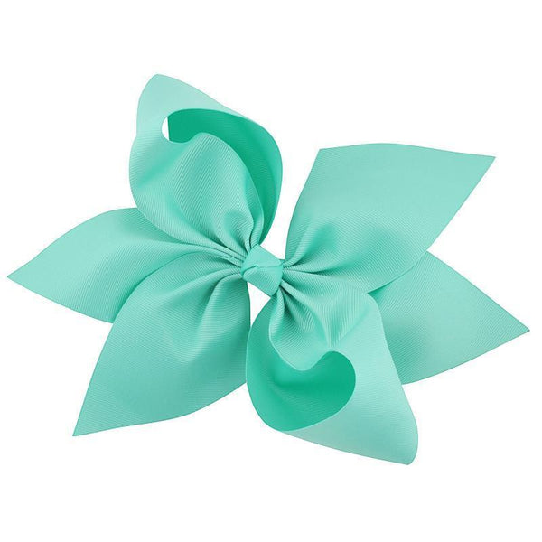 "10""  Teal Hair Bow - Little Miss Marmalade"