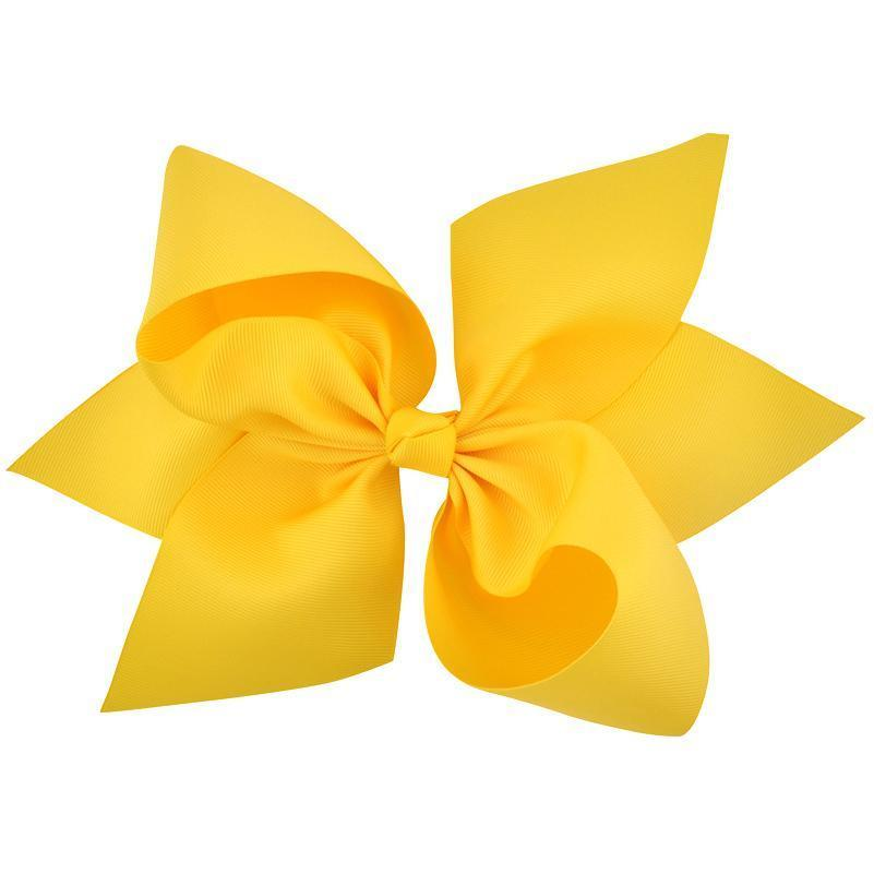 "Girls Accessories - 10"" Yellow Hair Bow"