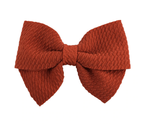 "Dark Orange Hair Bow 3"" inches - Little Miss Marmalade"