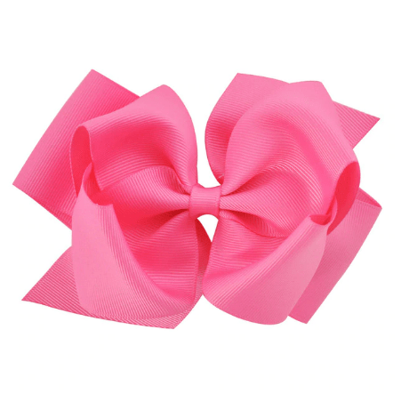 "6"" Fresh Pink Hair Bow - Little Miss Marmalade"