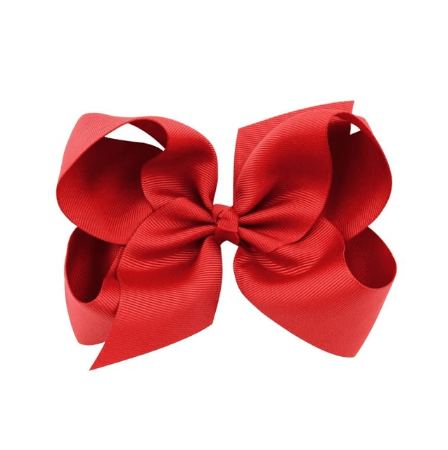 "6"" Inch Red Hair Bow - Little Miss Marmalade"