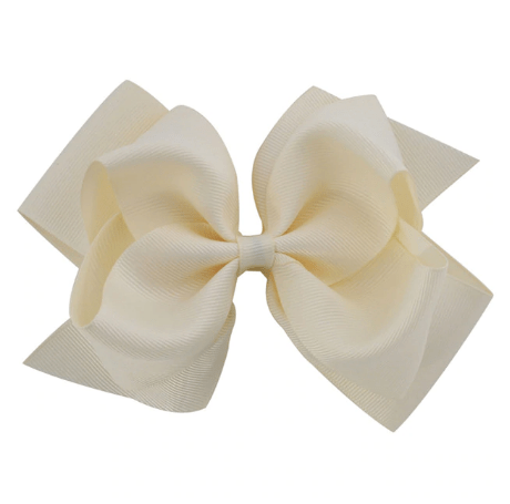"6"" Ivory Hair Bow - Little Miss Marmalade"
