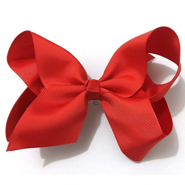 "Girls Accessories - 6"" Red Grosgrain Hair Bow"