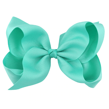 "6"" Teal Hair Bow - Little Miss Marmalade"