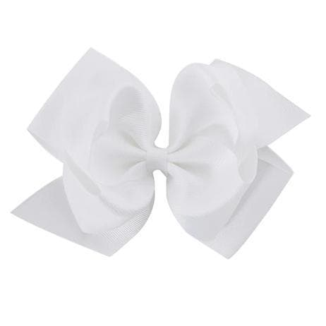 "6"" White Hair Bow - Little Miss Marmalade"