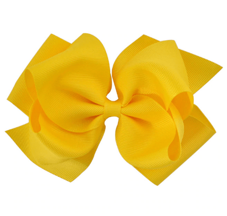"6"" Yellow Grosgrain  Hair Bow - Little Miss Marmalade"